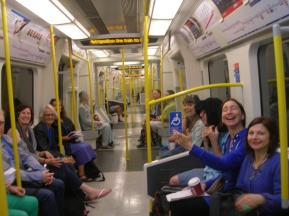 We took over a carriage on the Met line...