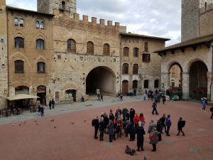 Gathering at San Gimignano